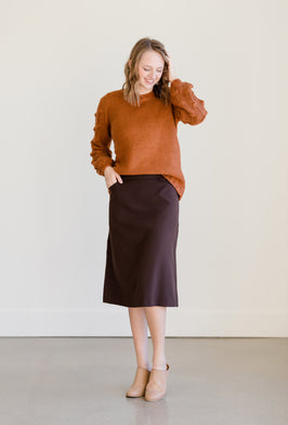 Inherit Co.  | Modest Women's Skirts | Leopard Print Flowy Midi Skirt |
