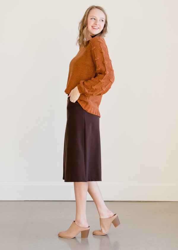 Inherit Co.  | Clearance | Dressy Back Zip Midi Skirt - FINAL SALE