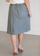 Inherit Co.  | Gray Print Below the Knee Skirt