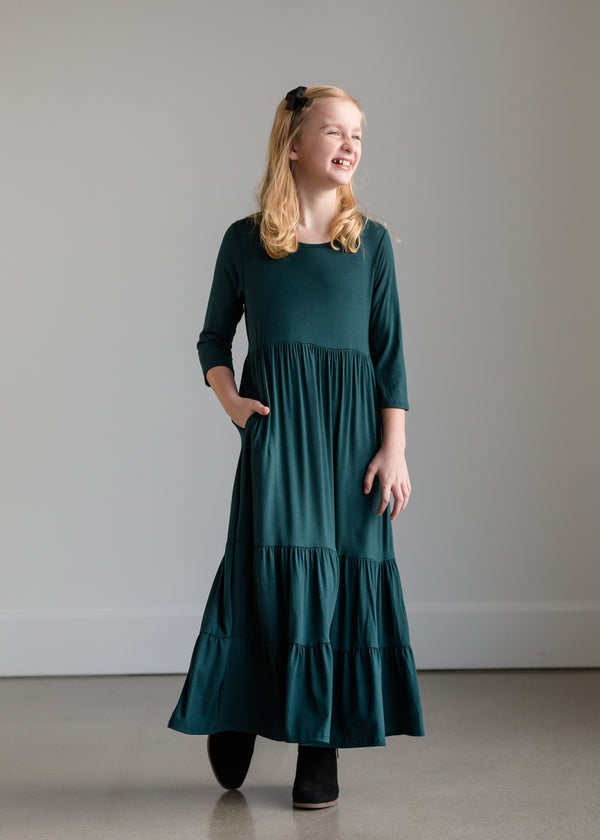 Inherit Co.  | Girls Modest Clothing | Highwaist Stretch Maxi Dress