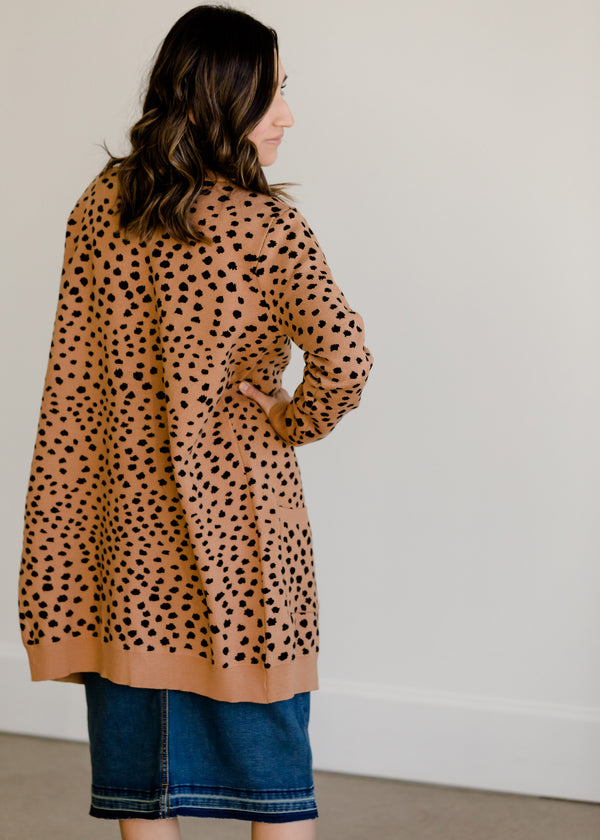 Inherit Co.  | Clearance | Cheetah Print Open Front Cardigan - FINAL SALE