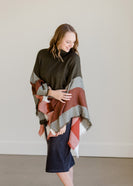 Fringe Turtleneck Poncho - FINAL SALE