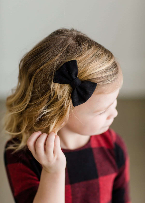 Inherit Co.  | Girls Modest Clothing | Buffalo Check Fabric Bow Set