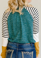 Colorblock Striped Raglan Top - FINAL SALE