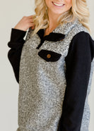 Knit Colorblock Gray Top - FINAL SALE