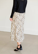 Side Zip Leopard Midi Skirt - FINAL SALE