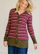 Striped Button Up Cardigan - FINAL SALE