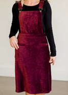 Corduroy Overall Midi Dress - FINAL SALE