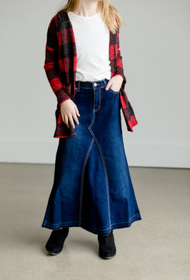 Inherit Co.  | Blue | Hailee Long Denim Skirt |