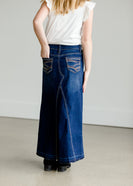 Inherit Co.  | A-Line Raw Hem Long Skirt