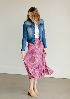 Crinkle Tiered Midi Skirt - FINAL SALE