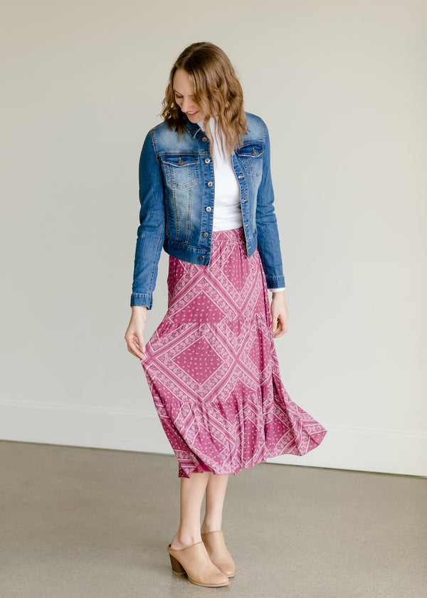 Inherit Co.  | Women's New Arrivals | Crinkle Tiered Midi Skirt