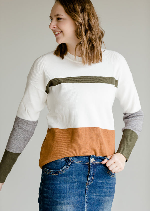 Inherit Co.  | Women's New Arrivals | Long Sleeve Colorblock Sweater