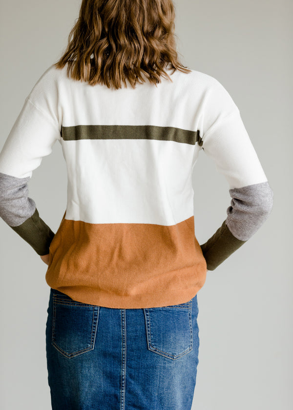 Inherit Co.  | Modest Women's Tops | Long Sleeve Colorblock Sweater