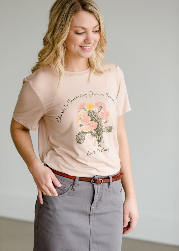 Inherit Co.  | Women's New Arrivals | Live Today Floral Graphic Tee
