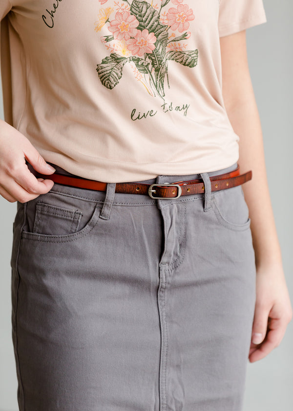 Inherit Co.  | Women's New Arrivals | Skinny Leather Belt