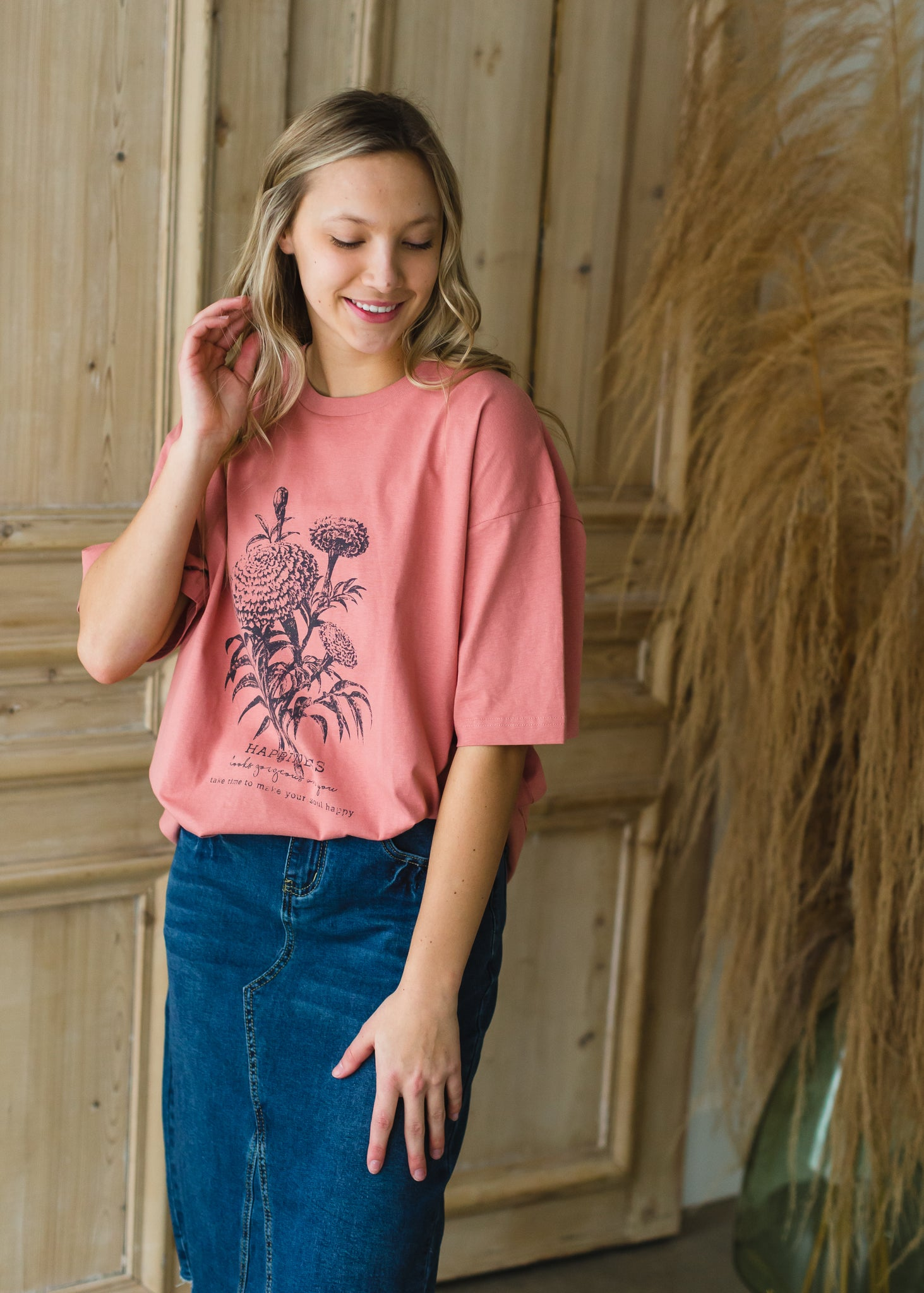 Wildflower Happiness Cotton Tee