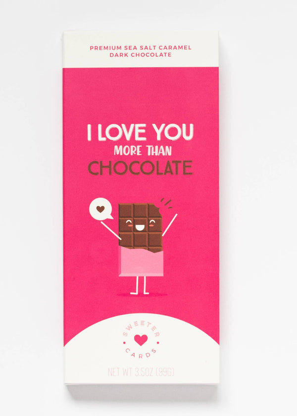 Inherit Co.  | Home + Lifestyle | I Love You Chocolate Bar Greeting Card