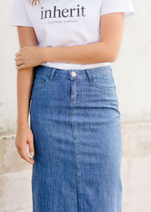 Ellie Long Denim Skirt