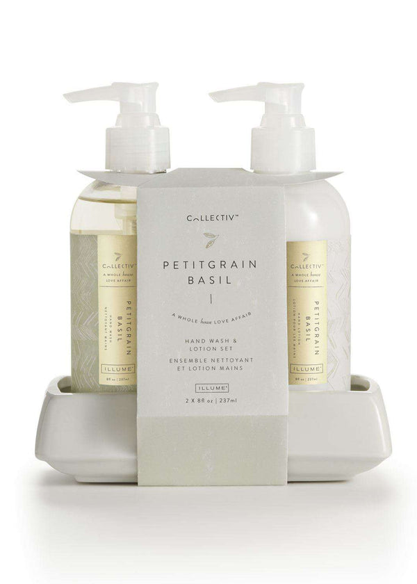 Inherit Co.  | Home + Lifestyle | Petitgrain Basil Handwash + Lotion Set