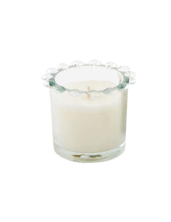 Small Clear Beaded Candle