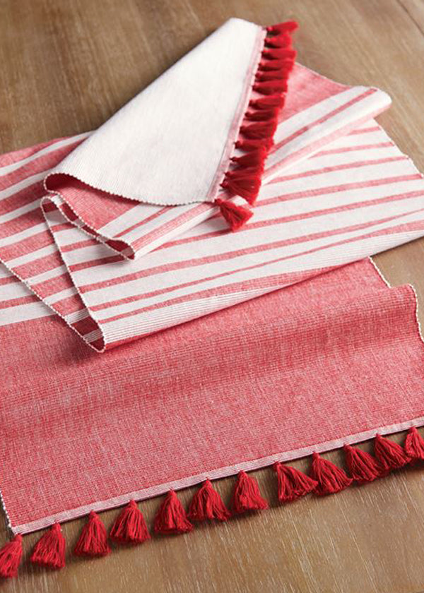 Inherit Co.  | Women's New Arrivals | Red Tassel Table Runner