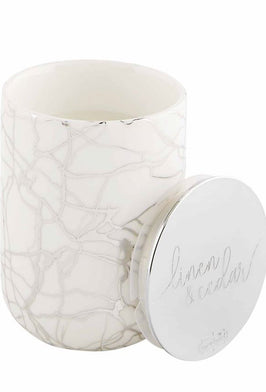 Inherit Co.  | Decor | Autumn Leaves Small Metallic Candle |