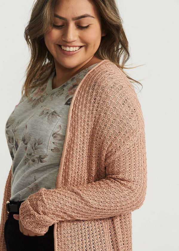 Modest Womens Waffle Knit Open Cardigan Inherit Clothing Company
