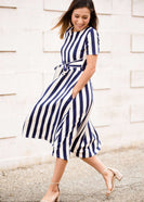 Sail Away Striped Midi Dress