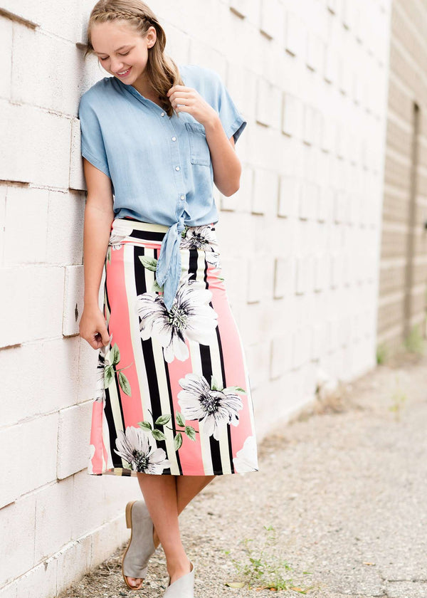 Gardenia Stripe Skirt