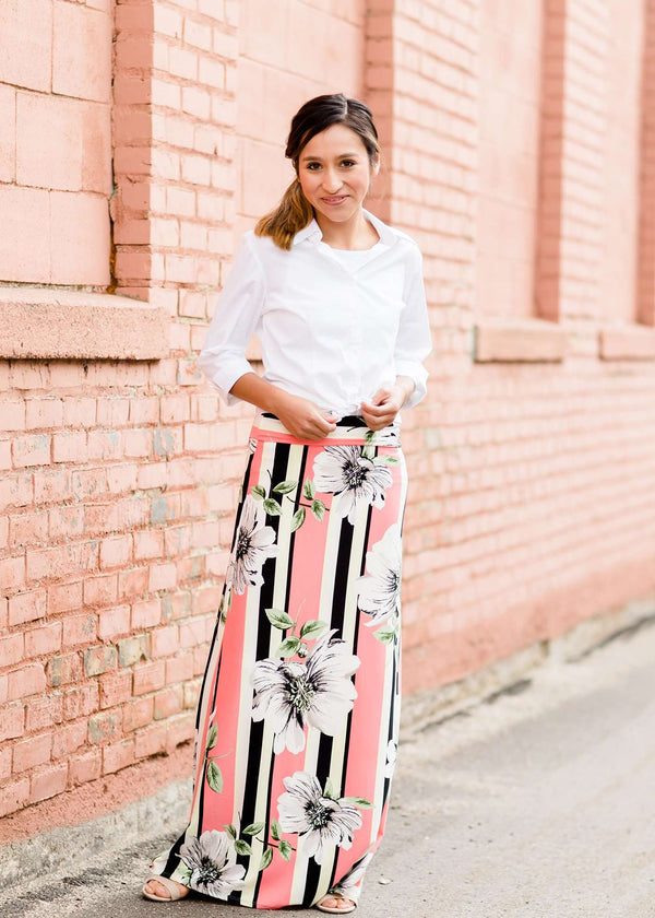 Inherit Co.  | Modest Women's Skirts | Gardenia Stripe Skirt - FINAL SALE