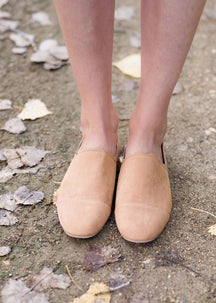 Ribbon Detail Suede Flat
