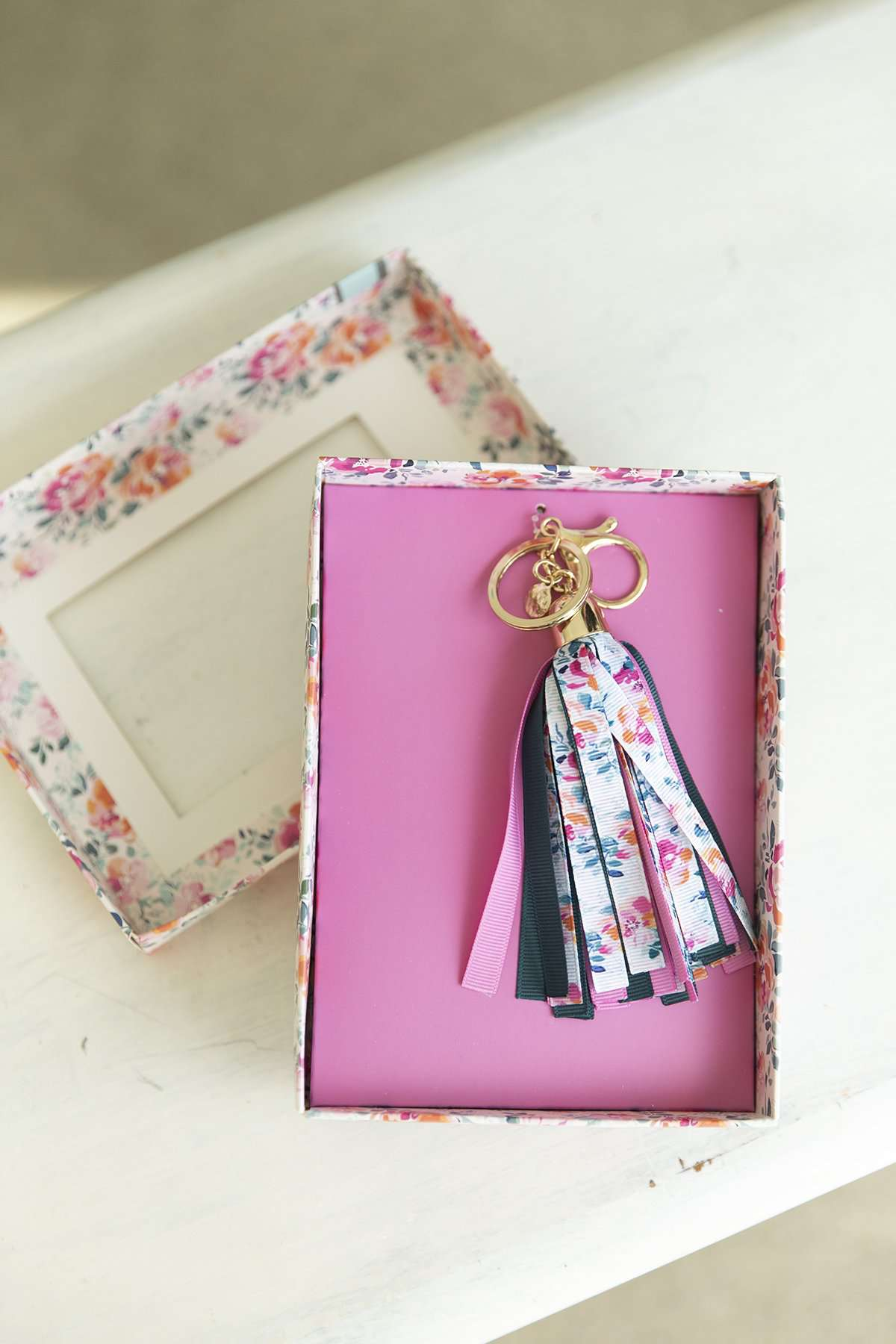 Floral Ribbon Keychain-FINAL SALE