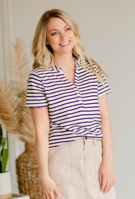 Inherit Co.  | Modest Women's Best Sellers | Sota' Classic Striped Tee - FINAL SALE |