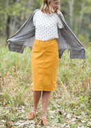 Knit cardigan, in black, heather gray, oatmeal or mauve option. Long sleeves, front pockets and open front.