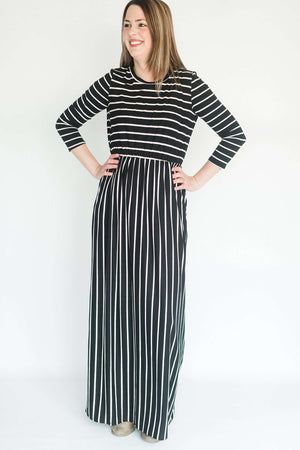 'The Eden' Modest Women's Striped Dress