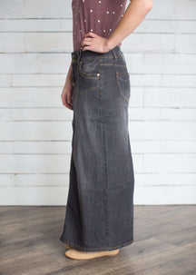 Evelyn Long - Denim - Modest Jean Skirt