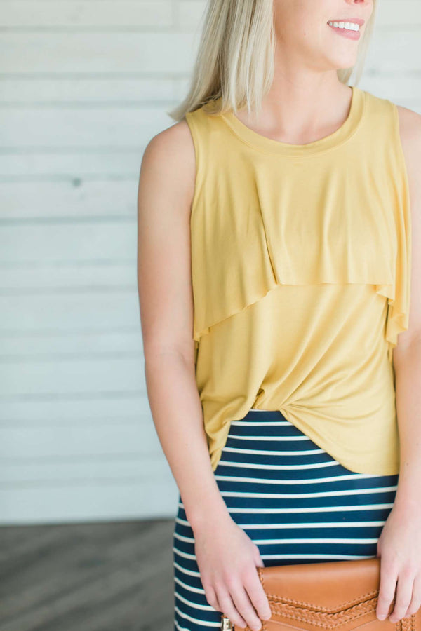 Ruffle Sleeveless Tank Top