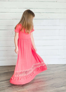 Crochet Detail Maxi Dress