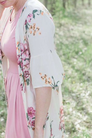 Floral Kimono | Bell Sleeve Detail