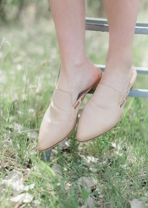 Pointed Toe Leather Mule