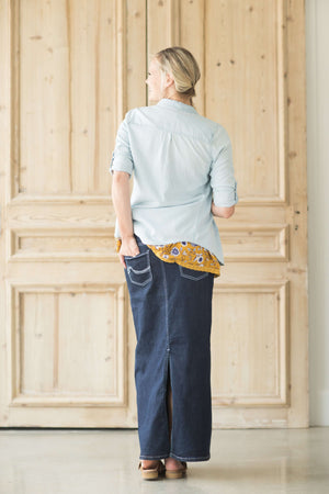 Willow Long Denim Skirt - FINAL SALE