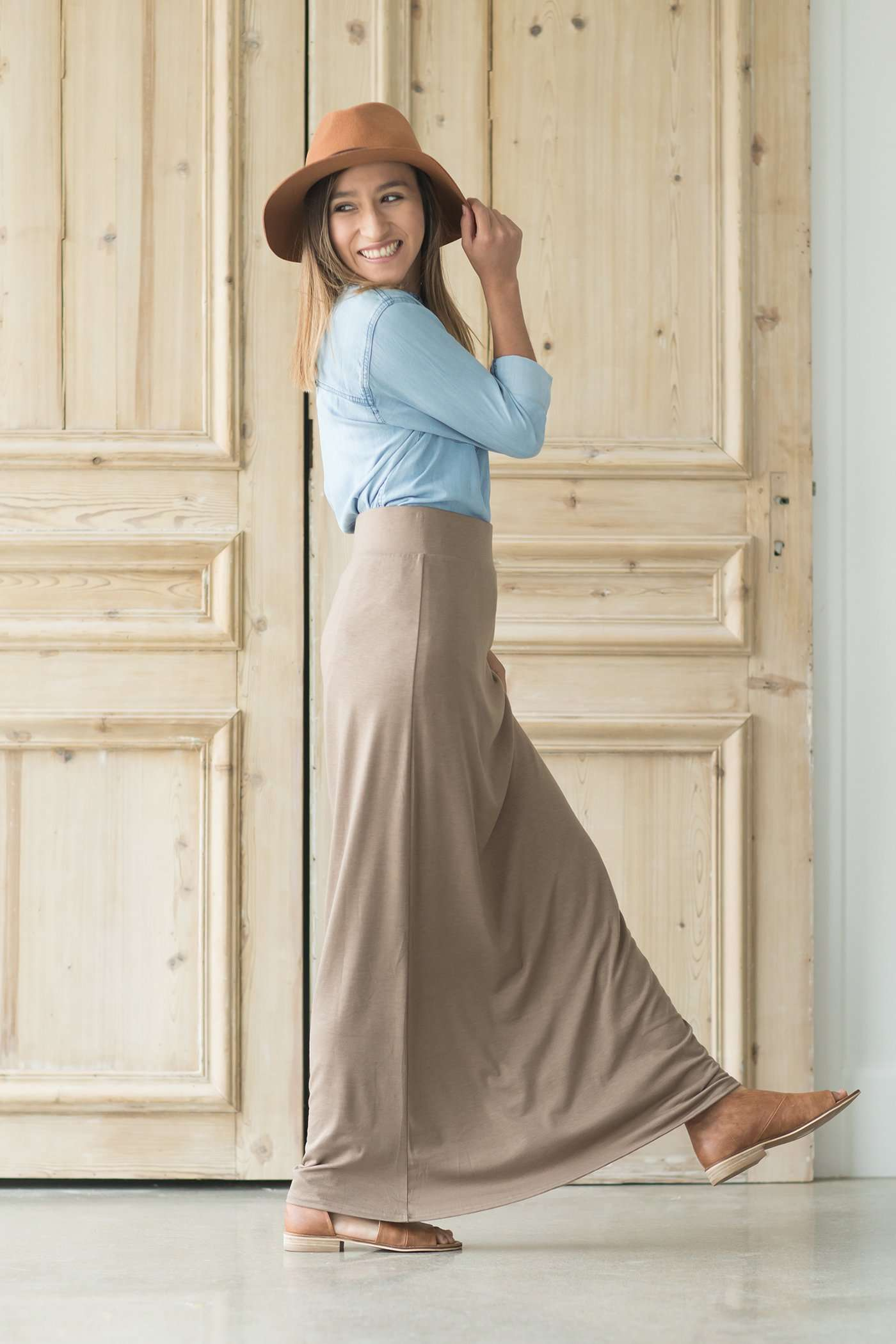 858356602fa3 Modest Women's Clarise Maxi Skirt | Inherit Clothing Company – Inherit Co.