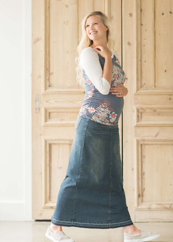 Inherit Co.  | Modest Women's Maternity | Morgan Long Skirt