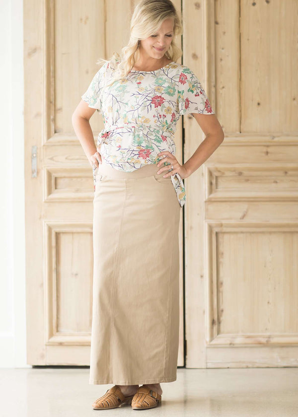 Inherit Co.  | Willow Khaki Long Skirt