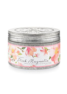 Pink Magnolia Large Tin Candle