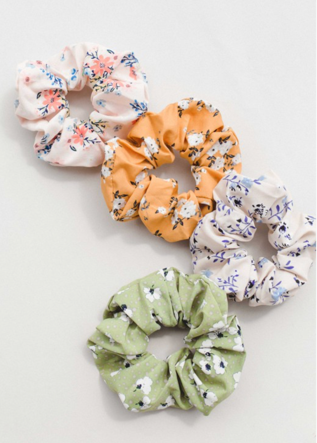 Floral Hair Scrunchies
