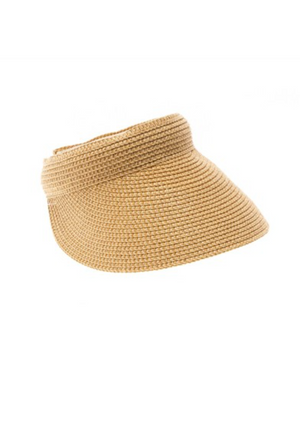 Straw Braided Sun Visor