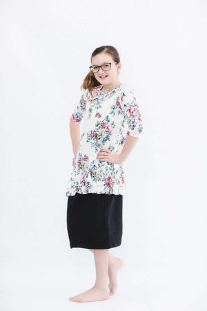Girls Ruffle Floral Tunic