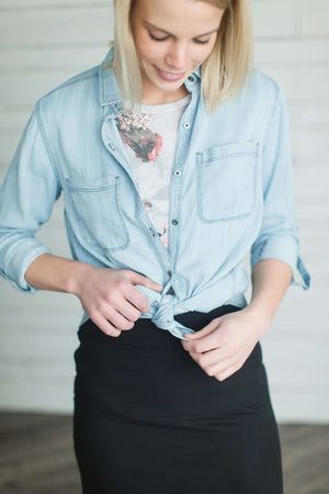Classic Chambray Button Up